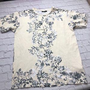 Zara Man floral crew neck T size Large
